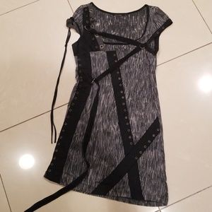 Salvage Animal Printed Knit Bondage Top